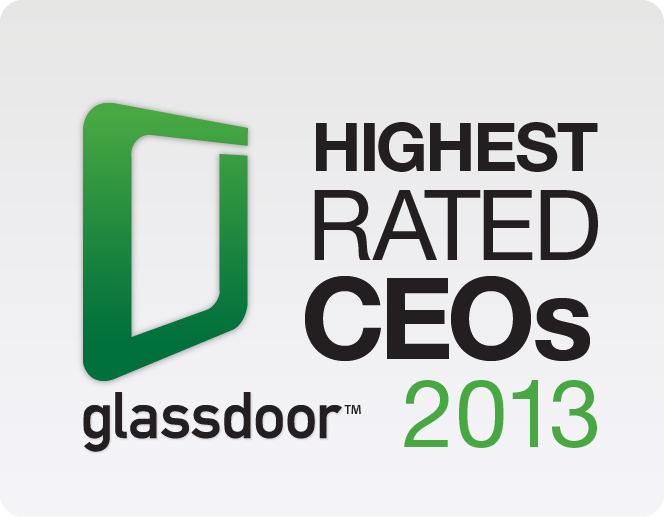 Glassdoor Highest Rated CEOs logo