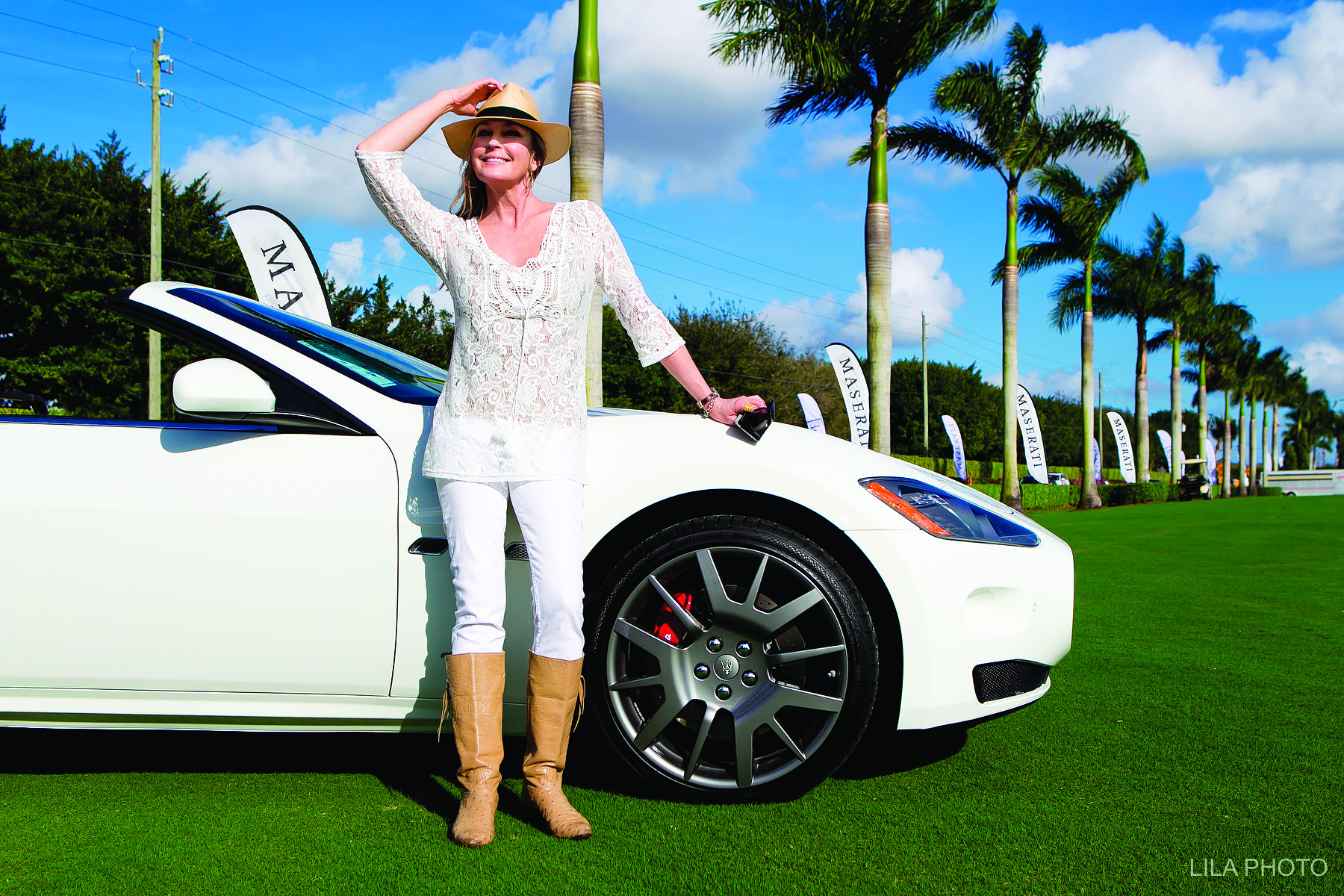 Bo Derek at International Polo Club Palm Beach
