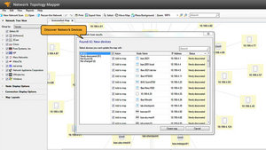 screenshot of network mapping software SolarWinds Network Topology Mapper