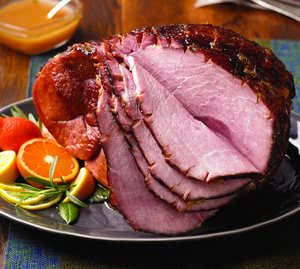 Spiced Grilled Ham with Citrus Glaze