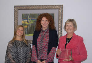 Atrium Staffing's CEO Rebecca Cenni (c.) Presents First Annual Supplier Diversity Award to DataScreening's Kimberly Slezak-Amicucci (l.), and Karen Jacobsen (r.)