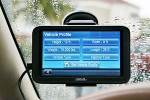 Magellan RoadMate Commercial 5370T-LMB vehicle profile screen