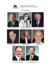 Internal Auditors inducted into the 2013 American Hall of Distinguished Audit Practitioners
