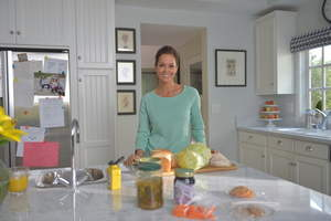 Brooke Burke-Charvet filming 'My Claritin Clear Challenge,' created by the makers of non-drowsy CLARITIN(R) products.