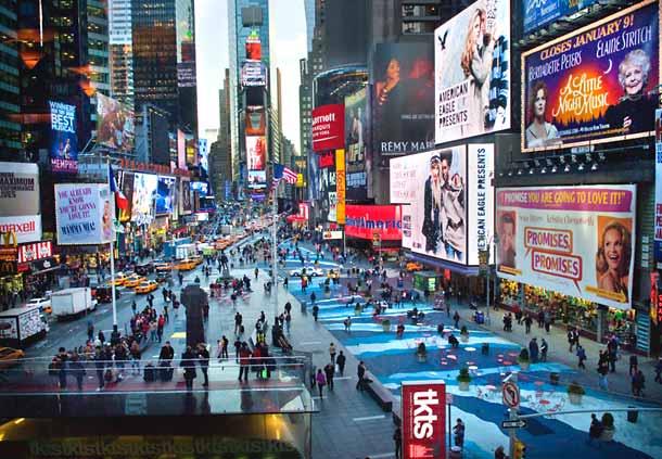 Fin de semana en Times Square