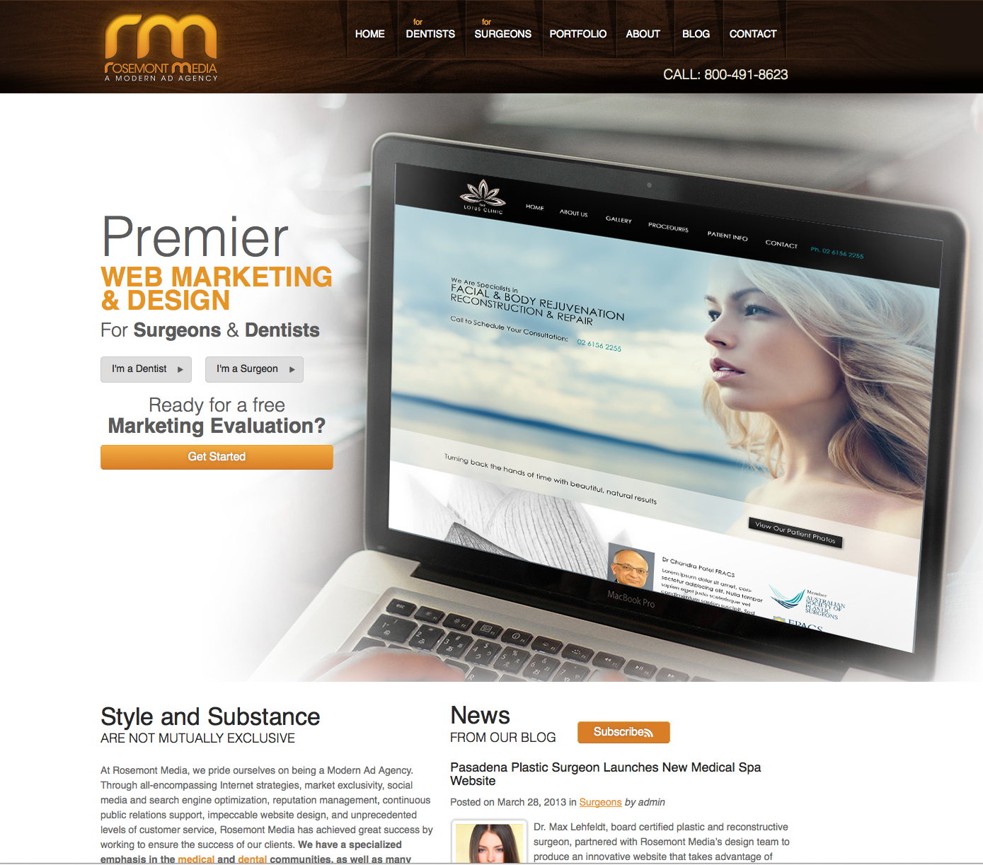 medical website design,rosemont media