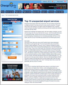 Cheapflights.ca Top 10 Unexpected Airport Services