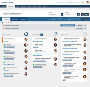 Adaptive Consolidation Process Tracker Screenshot