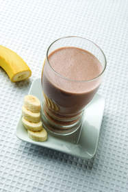Peanut Butter and Banana Breakfast Shake