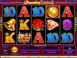 Burning Desire at All Slots Casino