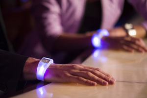 LED wearable technology available on wireless iPhone Android iPad devices