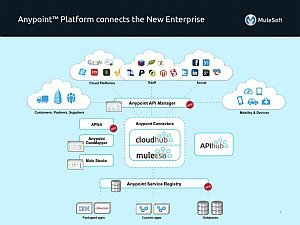 The Anypoint Platform connects any application, any data source, any device and any API, in the cloud and on-premise.