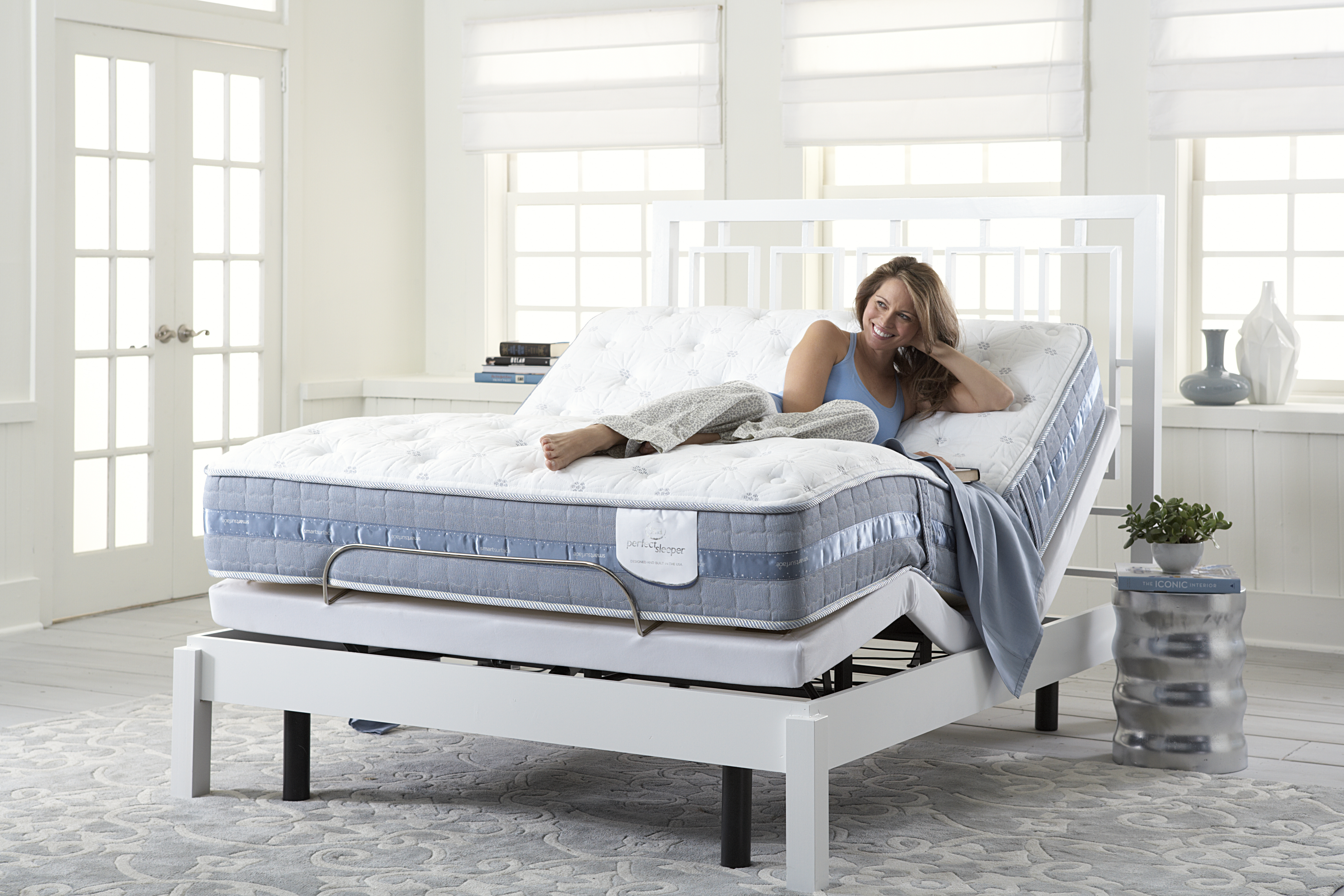 Serta Perfect Sleeper with an adjustable foundation