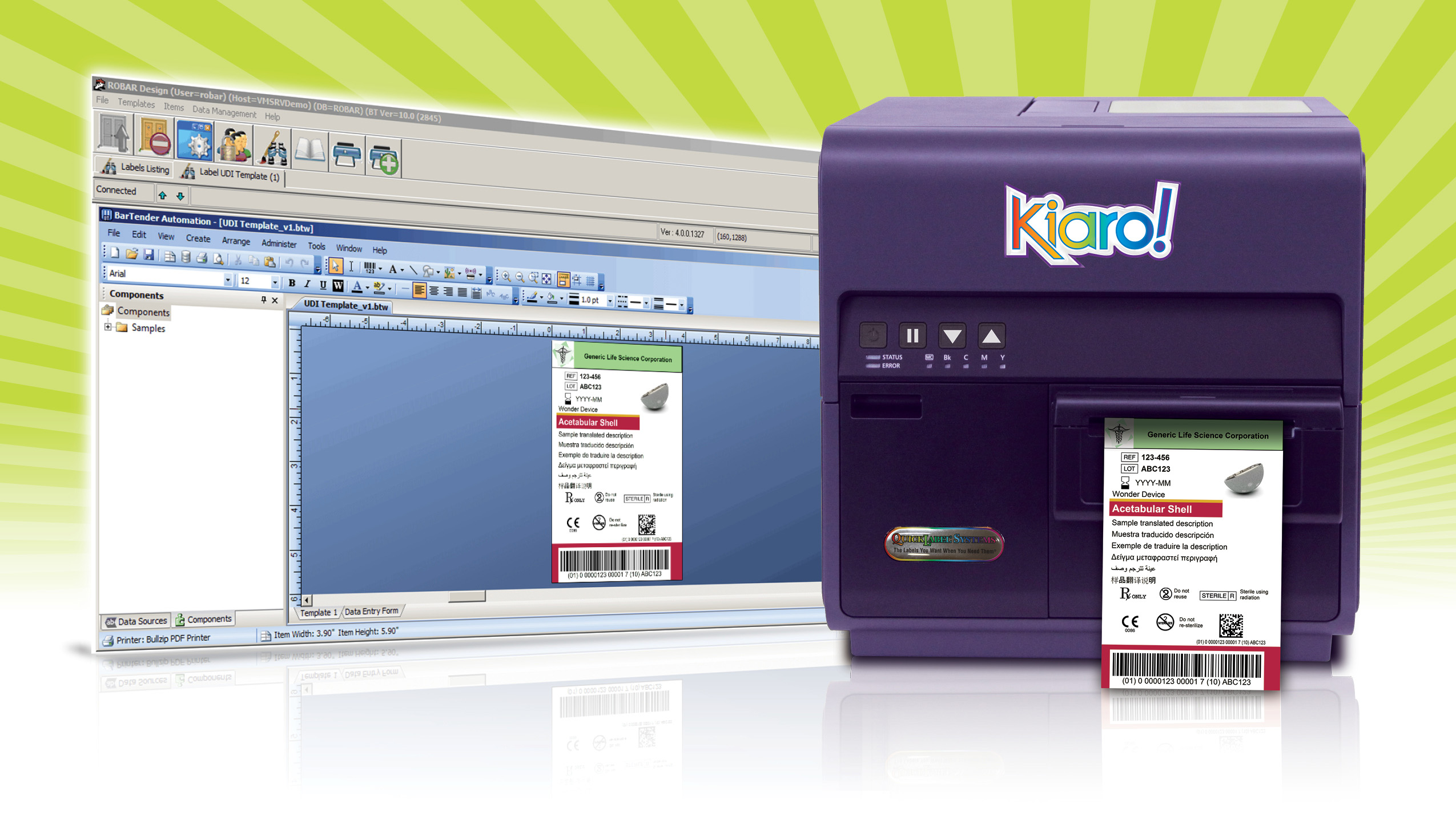 Kiaro! Color Label Printer