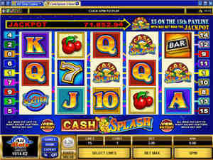 Cash Splash at All Slots Mobile Casino