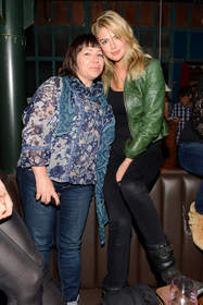 Terri Apanasewicz and Kate Upton attend Lady Antebellum's 'Golden' Release Show Presented By Citi At The McKittrick Hotel, Home of Sleep No More on May 7, 2013 in New York City.  (Photo by Kevin Mazur/WireImage)