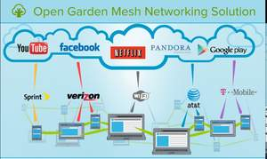 Open Garden Wireless Mesh Networking