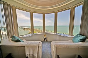 A penthouse unit at Vista Bay Point in Sarasota, Fla., will sell at absolute auction on June 7.