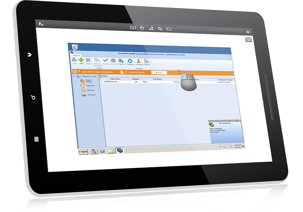 image of DameWare Mobile for DameWare Remote Support