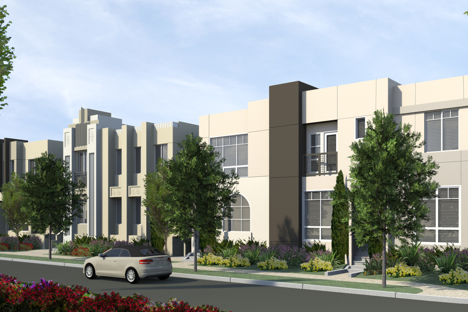 la new townhomes, gated townhomes, new la townhomes, south bay real estate