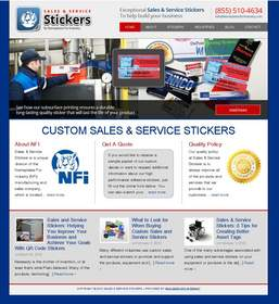The Sales & Service Stickers Website