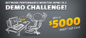 image of SolarWinds' NPM Demo Challenge Sweeptakes