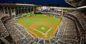 Marlins Park, home of The Miami Marlins, with Internet access via a Wi-Fi network from Meru Networ