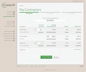 ZenPayroll Contractor Payments