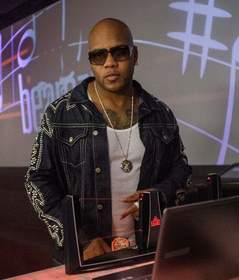 "Flo Rida with the new ""Beamz by Flo Rida"" product."