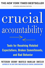 "The New York Times best-seller ""Crucial Accountability."""