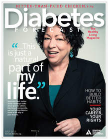 Cover, Diabetes Forecast magazine, July 2013 issue