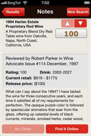 Robert Parker, wine, wine reviews, wine apps