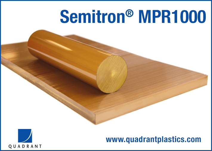 Quadrant Semitron(R) MPR1000 Engineering Plastic Material for Semiconductor Processing