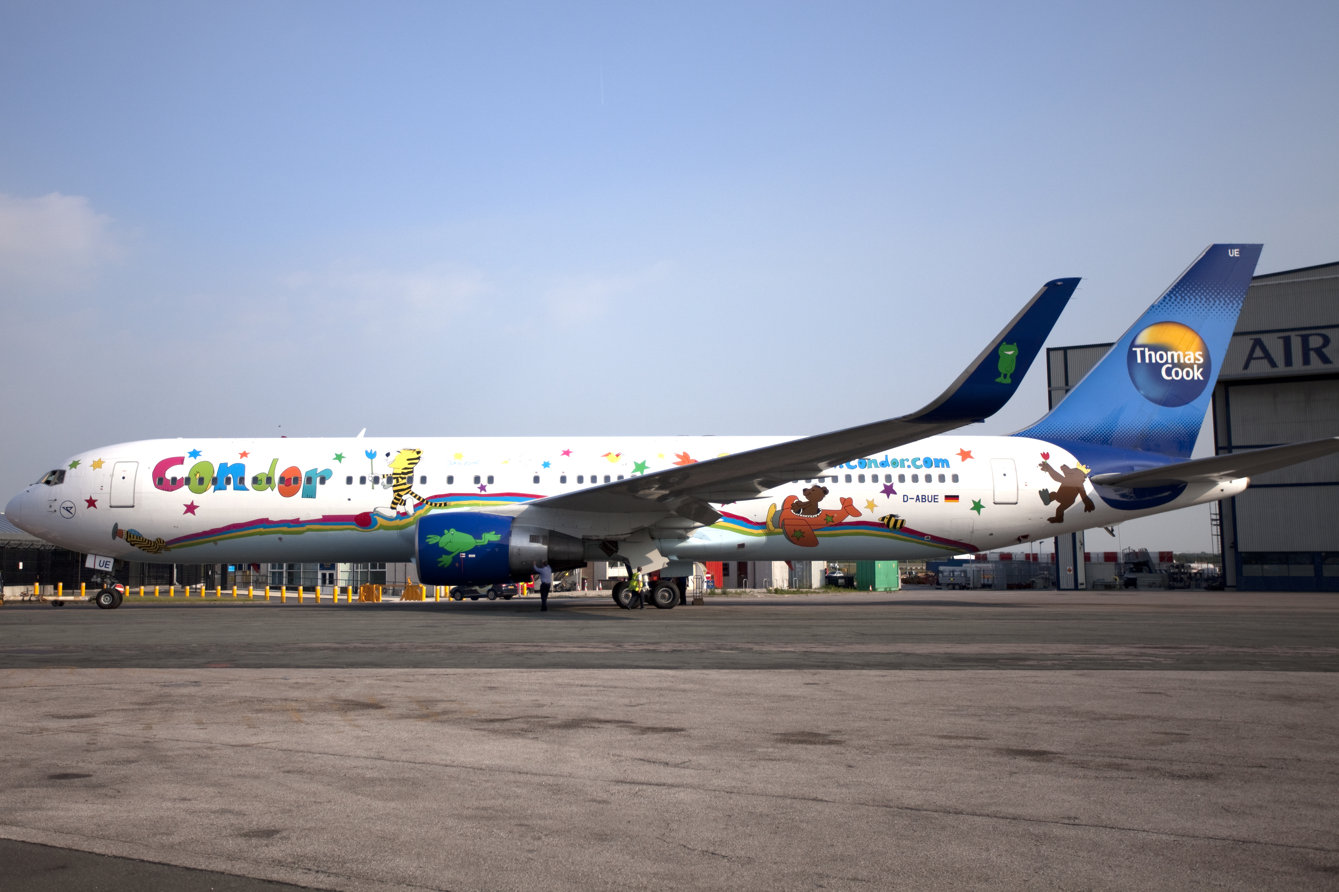 Boeing, Boeing 767, Janosch, Condor, D-ABUE, Special Livery, Livery, German Airline, CSR
