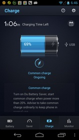Screenshot of Du Battery Saver App for Android Phones and Tablets