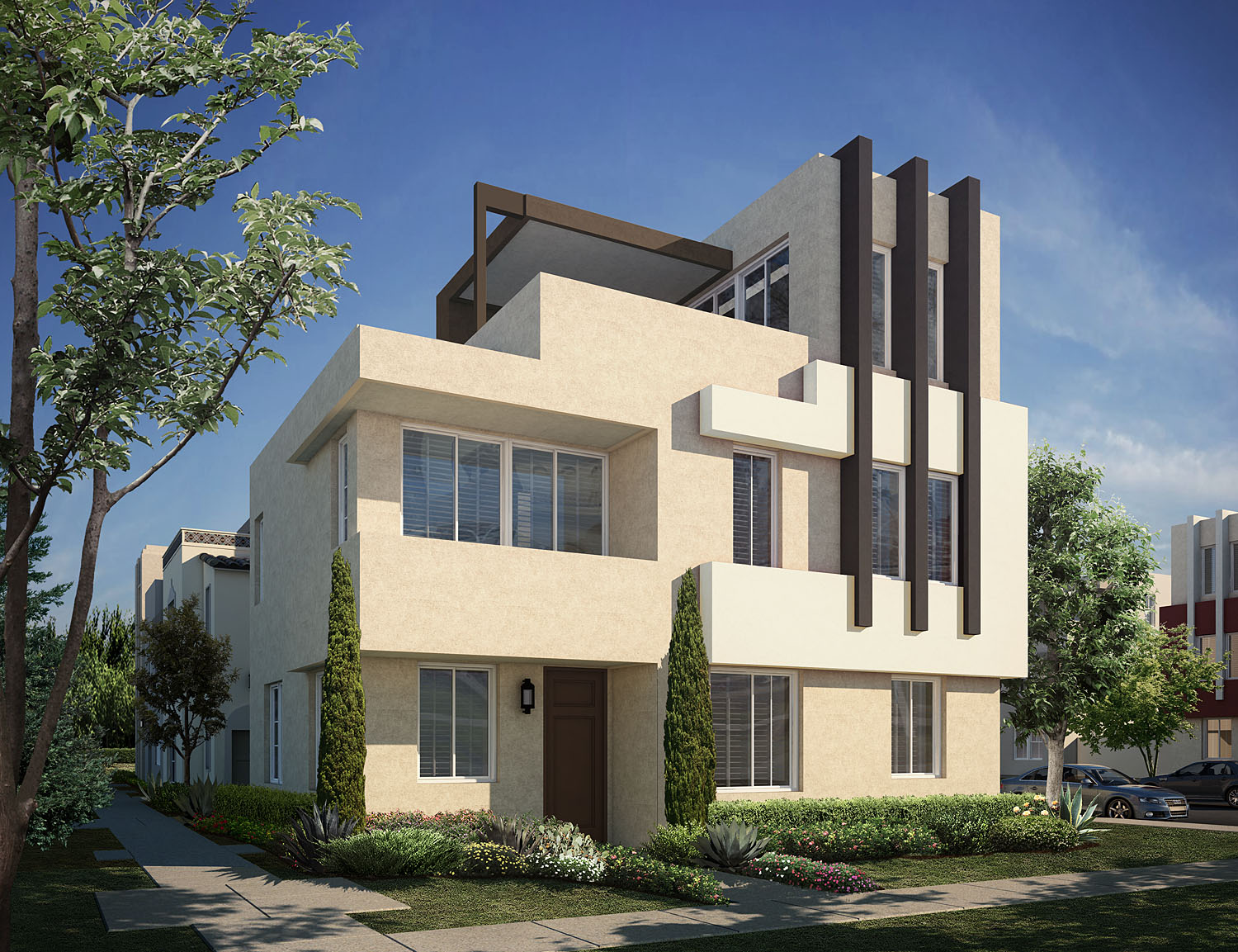 modern architecture, the terraces, gated new homes, new gated homes