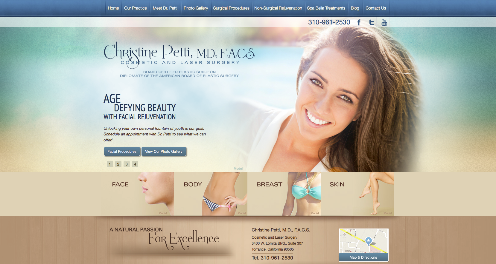 Plastic Surgery Practice in Torrance Launches New Website