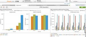 PivotLink Customer PerformanceMETRIX dashboards