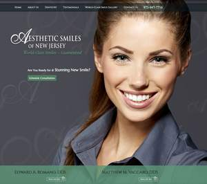 New Jersey Dentists Enhance Website with Parallax Scrolling Design