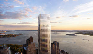 50 West Street, a new 63-story tower to be built in lower Manhattan. Credit: dbox