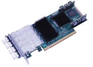 Quad port low profile NIC PCI-e Gne3 compatible with Network Packet Broker, Packet Master