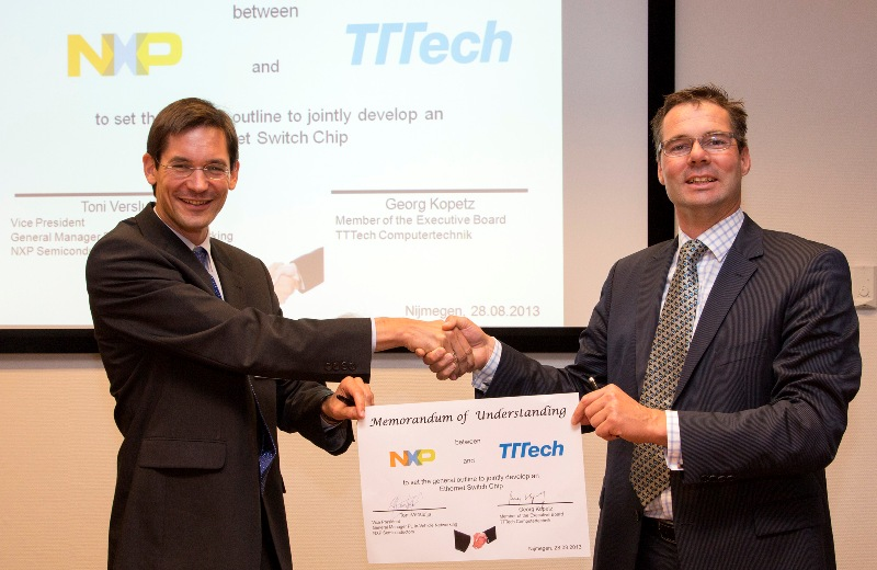 TTTech and NXP MoU signing