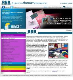 RNR Plastics' Website