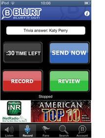 Blurt App Record Screen