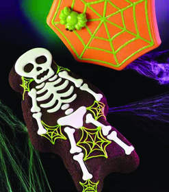 Skeleton Cake and Spider & Web Candy Plaque