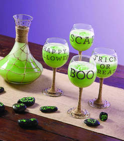 Embellished Decanter and Glassware