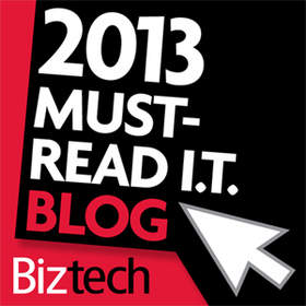 image of BizTech Must-Read IT Blogs 2013 award logo