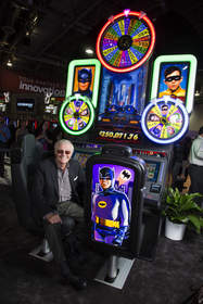 Aristocrat is transforming the game at the Global Gaming Expo 2013 in Las Vegas. Appearing with one of the company's newest games is Adam West, who portrayed Batman in the 1960's television series. The new progressive slot game, Batman™ Classic TV Series Slot Game powered by Wonder Wheels™, made its premiere at G2E 2013. G2E continues through September 26.  Photo credit: 501 Studios
