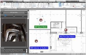 View geolocated videos, photos, dictation, and text notes in AutoCAD with free TurboSite plugin.