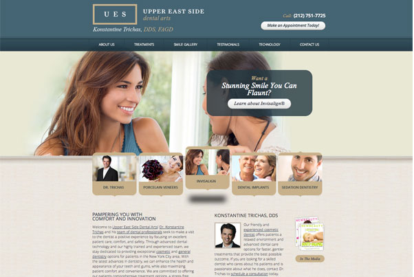 Konstantine Trichas, DDS, FAGD Designs New Website